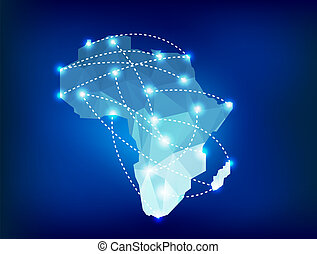 Africa map polygonal
