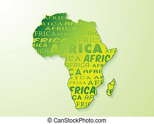 Africa map presentation