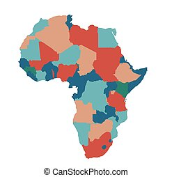 Africa map vector illustration