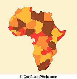 Africa map vector illustration art