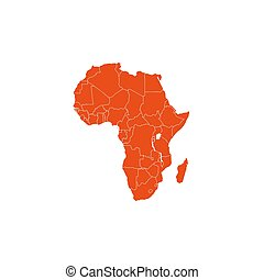 Africa map with country borders, vector illustration. - ...