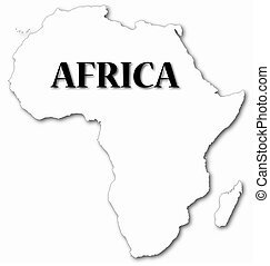 Africa Map With Shadow