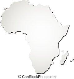 africa, mappa, vettore