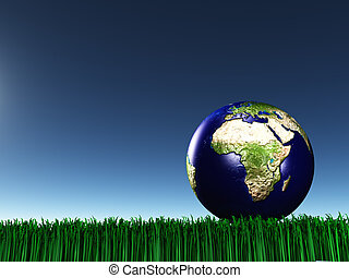 Africa mideast on grass
