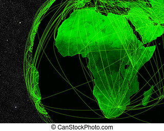 Africa network - Network over Africa. Information technology...