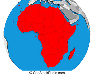 Africa on 3D map