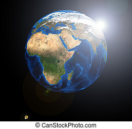 Africa on the Earth planet