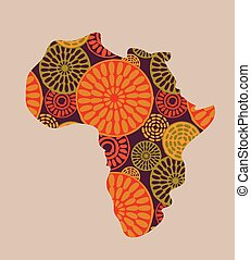 Vector classic africa map A high detail vector map of the vector