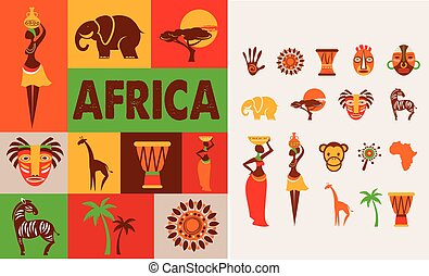 Africa - poster and background