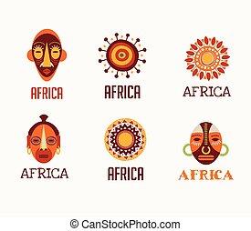 Africa, Safari icons and element set - Africa and Safari...