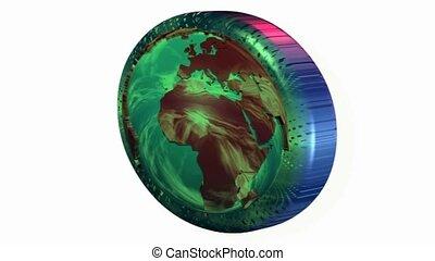 Africa spinning