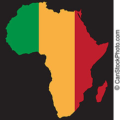 africa united - artistic africa illustration