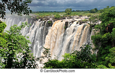 africa), wasserfall, victoria(south