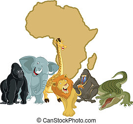 Africa with animals