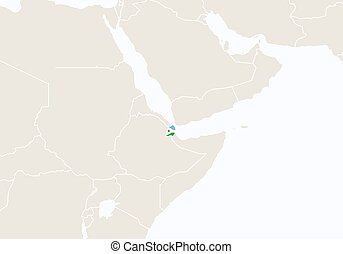 Djibouti Map Vector Illustration Scribble Sketch Republic - Republic of djibouti map