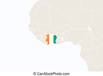 Stock Illustrations Of Ivory Coast Map Csp Search Clipart - Ivory coast map of africa