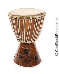 africain joue tambour, sud