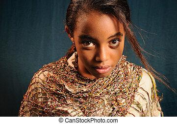 africaine, beauté