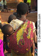 africaine, enfants