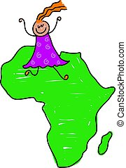 africaine, gosse