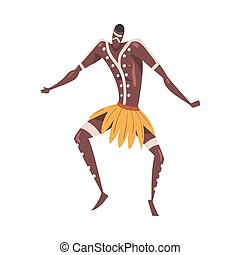 africaine, illustration, danse, homme, vecteur, style, ...