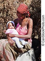 africaine, mère