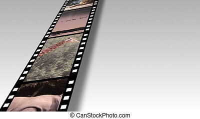 africaine, métrage, collage, vie sauvage