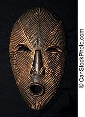 africaine, masque tribal, -, lega, tribu