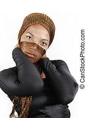africaine, mode, beauté