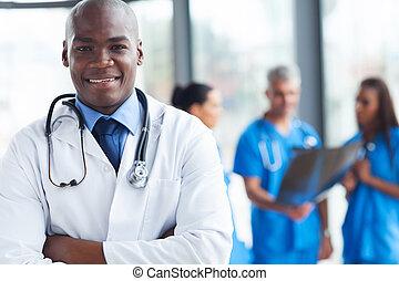 africaine, monde médical, chirurgien