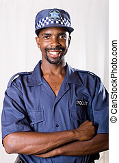 africaine, sud, policier