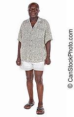 africaine, vieil homme