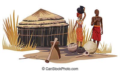 africaine, village