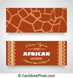 african, 부족의 예술, 배너