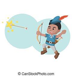 african A boy was shot with an arrow star