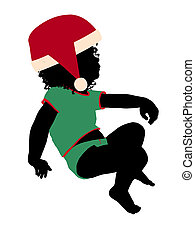 African ameircan female christmas infant toddler silhouette...
