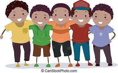 African-Amerian Boy Group