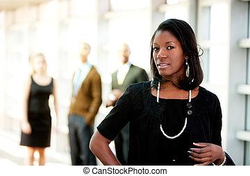 african american, ügy woman