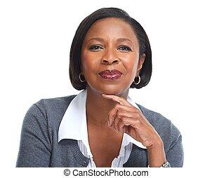 african american, 事務, woman.