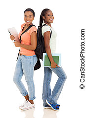 african american, 大学, 友人