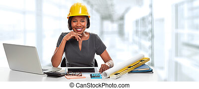 African-American architect woman.