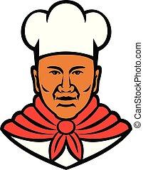 African American Baker Chef Cook Mascot