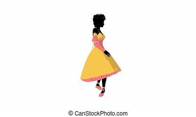 African American Ballerina - African american ballerina on a...