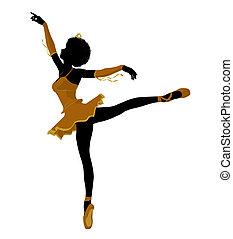 African American Ballerina Illustration Silhouette - African...