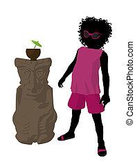 African American Beach Girl Silhoue - African american beach...