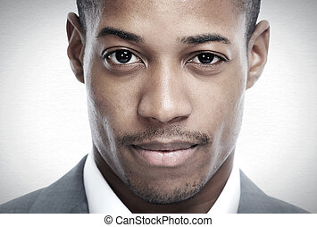 African-American black man face.