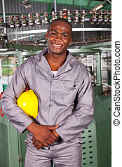 african american blue collar worker