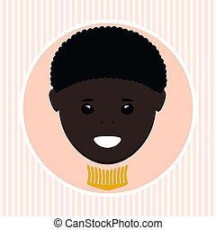 African American boy. Vector illustration