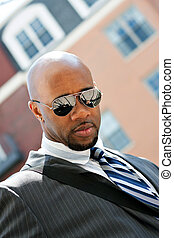 African American Business Man In the City