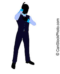 African American Business Man Silhouette - African american...